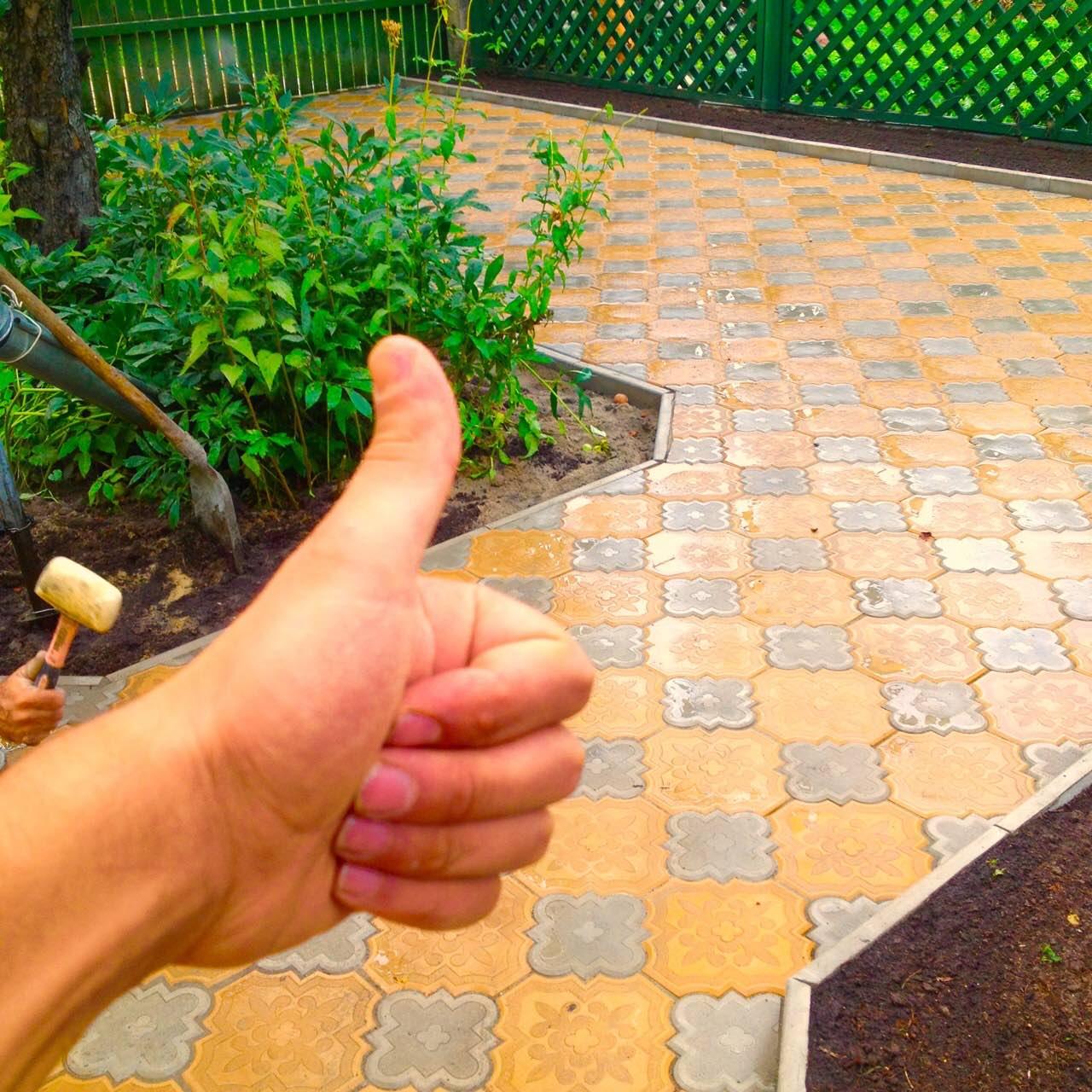 Фото укладки тротуарной плитки своими руками